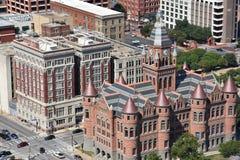 Stary Czerwony muzeum Dallas okręgu administracyjnego gmach sądu w Teksas, poprzedni, obraz stock