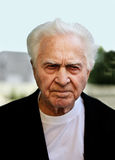 stary człowiek nieszczęśliwy Fotografia Royalty Free
