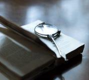 stary czytanie poezji Fotografia Stock