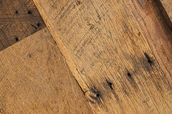Stary dębowy barnwood tekstury tło Obrazy Royalty Free