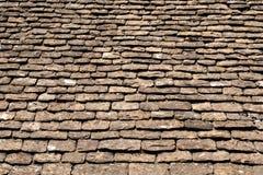 Stary dachówkowy dach Fotografia Royalty Free