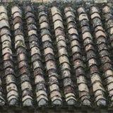 Stary dach płytki, tekstury tło Zdjęcia Royalty Free