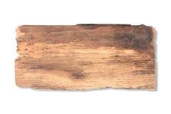 Stary deski drewno odizolowywający na bielu obraz royalty free
