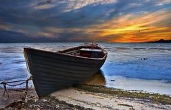 stary łódkowaty połów Zdjęcia Royalty Free