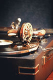 Stary dokumentacyjnego gracza gramofon Obraz Royalty Free