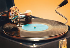Stary dokumentacyjnego gracza gramofon Obraz Stock