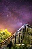 Stary dom i Milky sposób zdjęcie royalty free