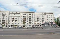 Stary dom na Ryazanskoye autostradzie moscow Fotografia Royalty Free