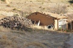 Stary dom w Hiszpańskiej wiosce zdjęcia stock