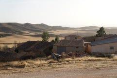 Stary dom w Hiszpańskiej wiosce fotografia stock