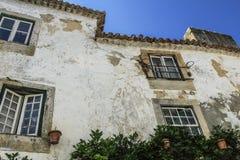 Stary dom w Obidos, Portugalia Zdjęcia Stock