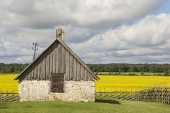 Stary dom wiejski w Angla dziedzictwa kultury centrum przy Saaremma wyspą Obraz Royalty Free