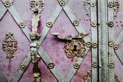 stary doorhandle fotografia stock