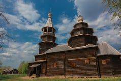 Stary drewniany architektura kościół fotografia stock
