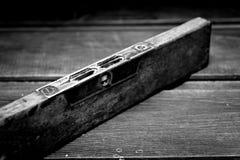 Stary Drewniany bąbla poziom obrazy stock