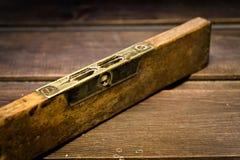 Stary Drewniany bąbla poziom zdjęcie royalty free