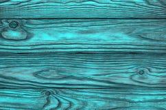 Stary drewniany błękitny tło cztery deski Obrazy Royalty Free