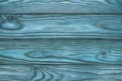 Stary drewniany błękitny tło cztery deski Zdjęcie Stock