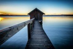 Stary drewniany boathouse Zdjęcie Stock