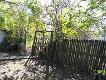 Stary drewniany bramy wejście Fotografia Royalty Free
