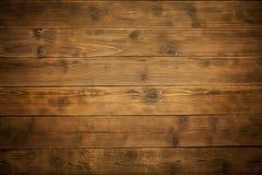 Stary drewniany brown tło Obraz Royalty Free