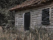 Stary drewniany dom głęboko w forrest zdjęcia royalty free