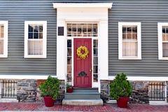 Stary Drewniany dom w South End Boston zdjęcie royalty free