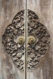 Stary drewniany drzwi obraz stock