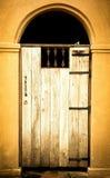 Stary drewniany drzwi Obrazy Royalty Free
