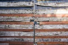 Stary drewniany drzwi Fotografia Royalty Free