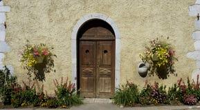 Stary drewniany drzwi Zdjęcia Royalty Free