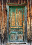 Stary drewniany drzwi fotografia stock