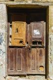 Stary drewniany drzwi jako tło Zdjęcia Stock