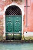Stary drewniany drzwi lub brama Zdjęcie Royalty Free