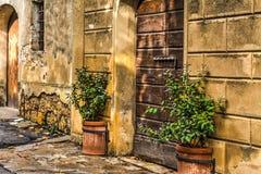 Stary Drewniany drzwi w Tuscany Zdjęcia Royalty Free