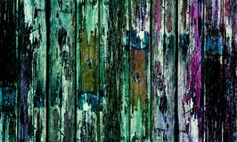 Stary drewniany drzwi z coloured farbą zdjęcie royalty free