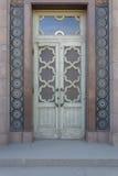 Stary drewniany drzwi z szkłem Zdjęcie Stock