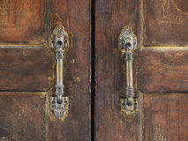 Stary drewniany drzwiowy panel Obraz Stock