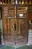 Stary drewniany drzwiowy retro styl Obraz Stock