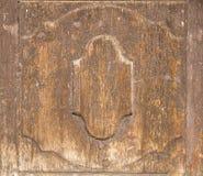 Stary drewniany drzwiowy szczegół Zdjęcia Stock