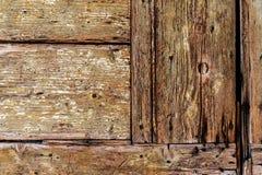 Stary drewniany drzwiowy szczegółu wzór Obrazy Stock