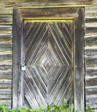 Stary drewniany drzwiowy tło Zdjęcie Royalty Free