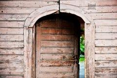 Stary drewniany dzwi wejściowy Obrazy Stock