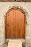 Stary drewniany dzwi wejściowy w Tuebingen, Niemcy Zdjęcie Royalty Free