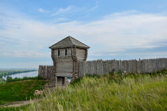Stary drewniany forteca Fotografia Stock