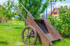 Stary drewniany furgon Obrazy Stock