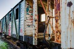 Stary drewniany furgon pociąg Obrazy Stock