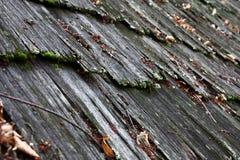 Stary drewniany gont zdjęcie stock