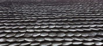 Stary drewniany gontu dach Obrazy Royalty Free
