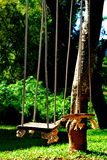 Stary drewniany huśtawkowy krzesło Zdjęcia Royalty Free